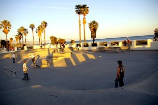 Stearns Wharf Pier Skate Playground- (medium sized photo)
